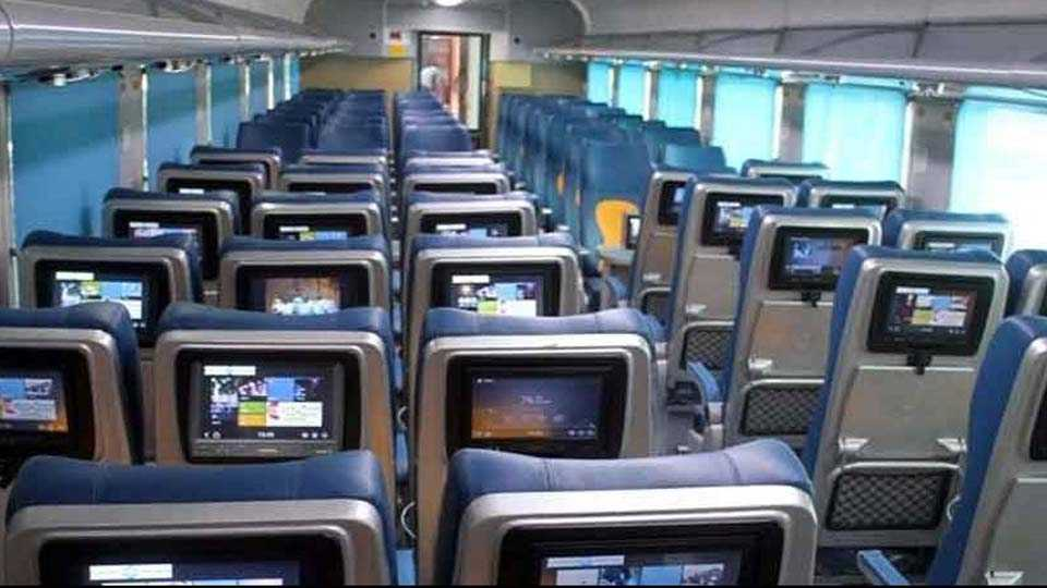 travelers stolen headphone and scratched on led on the maiden run of tejas express between mumbai to goa
