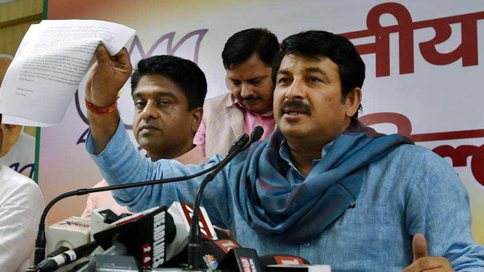 Delhi BJP Chief Tiwari attacked during meet