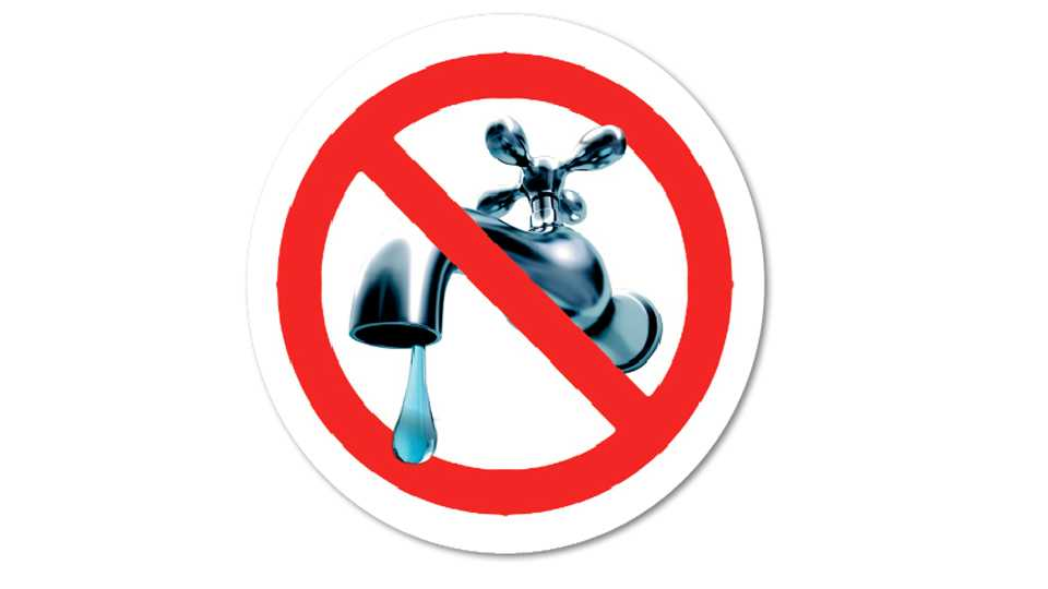 water supply  reduction