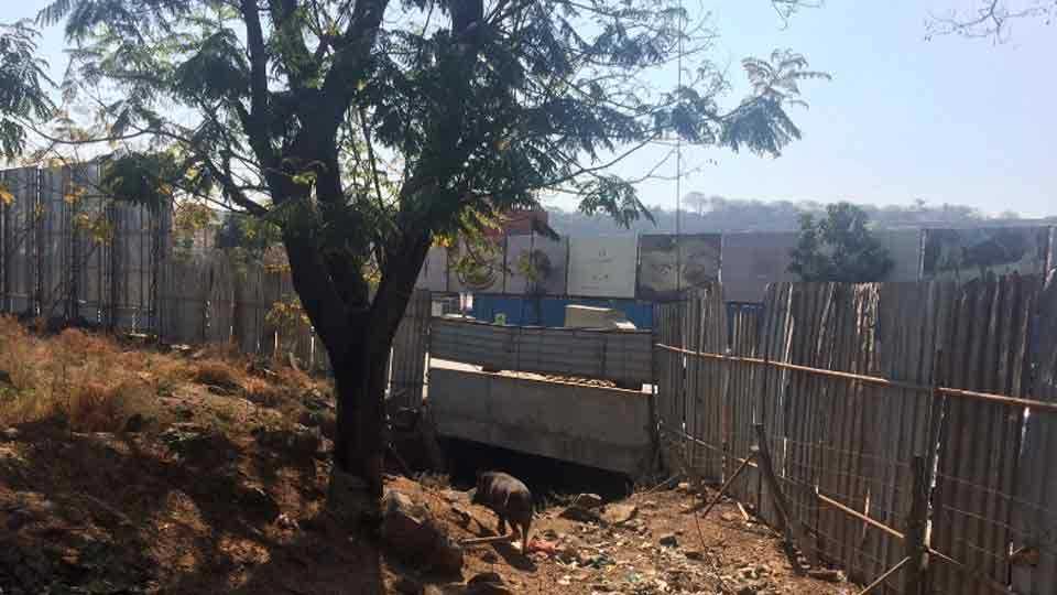 illegal construction in gangadham chowk area