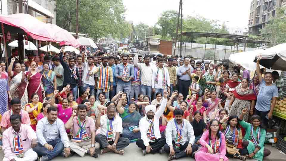 MNS movement against the municipal corporation for the road