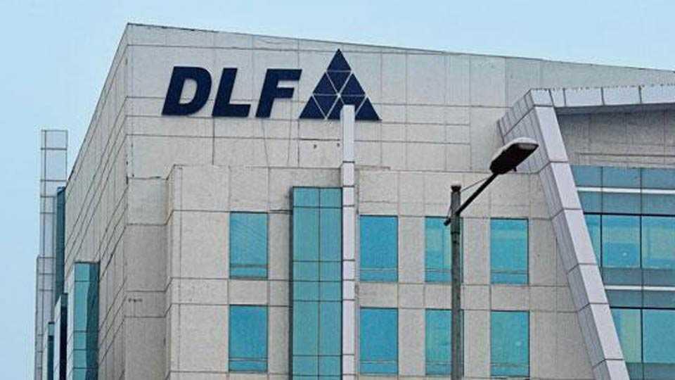 DLF share down?