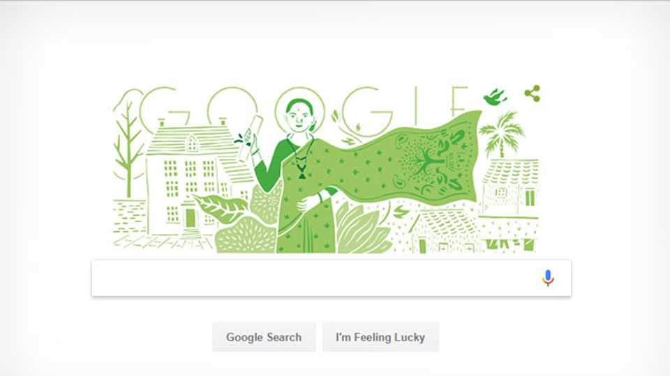 today google dedicates its doodle to first physician of india anandi gopal joshi