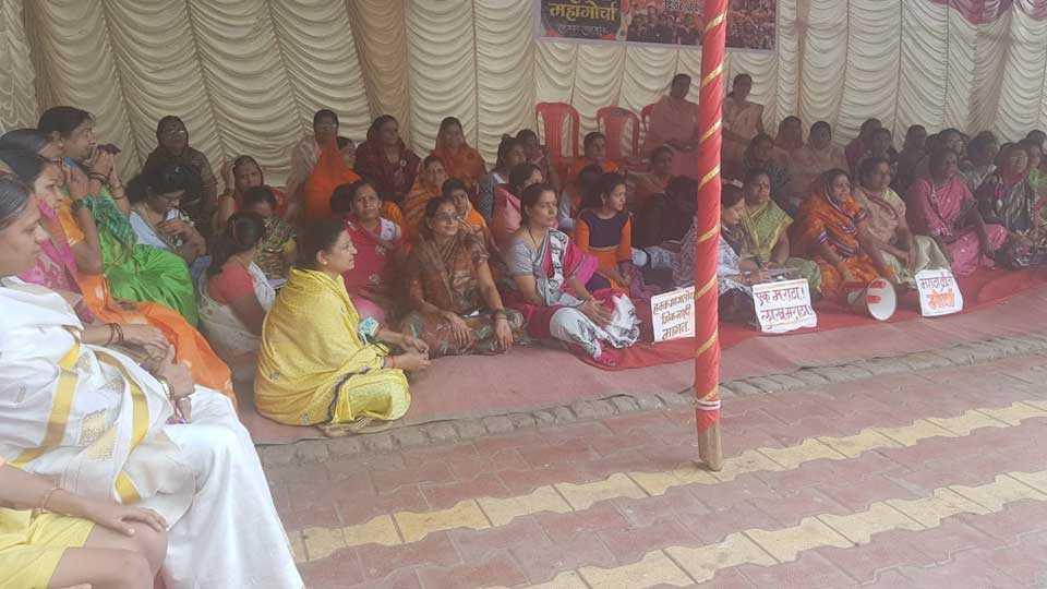 Maratha Reservation Agitation is Started in Tuljapur