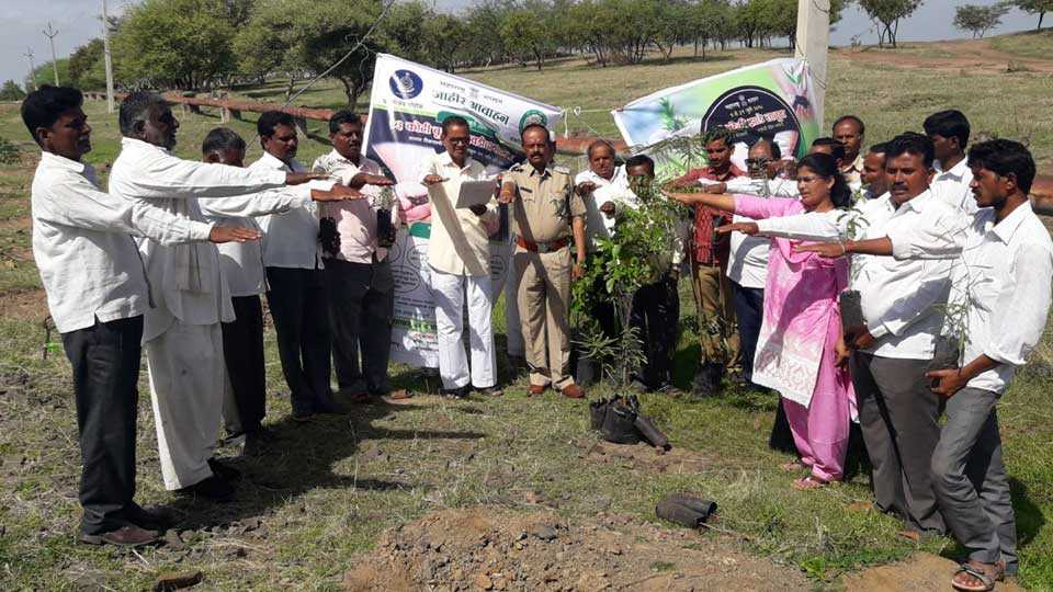 Start of tree plantation by justifying the agriculture day