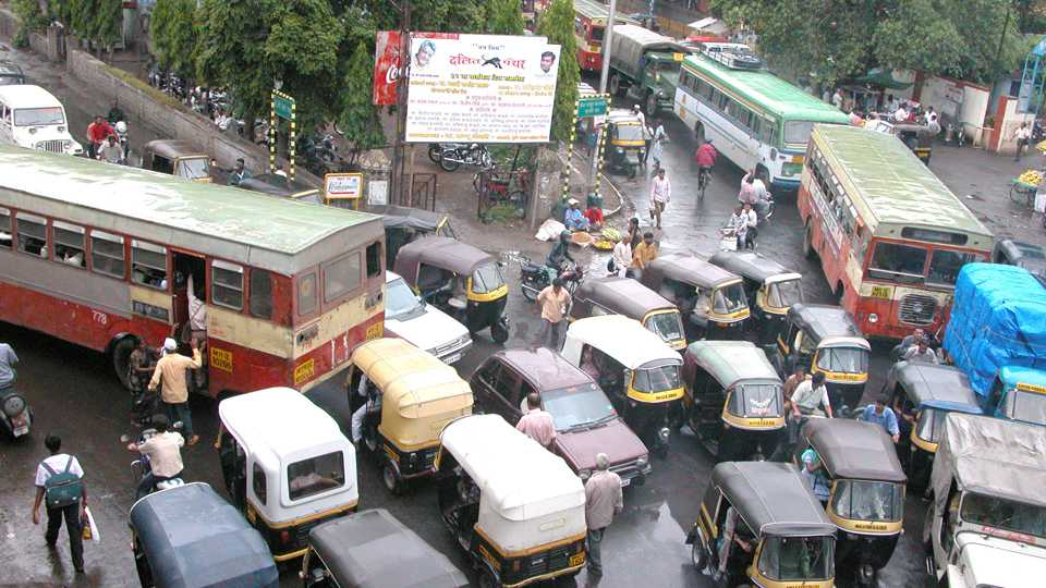 file photo of traffic jam in Pune