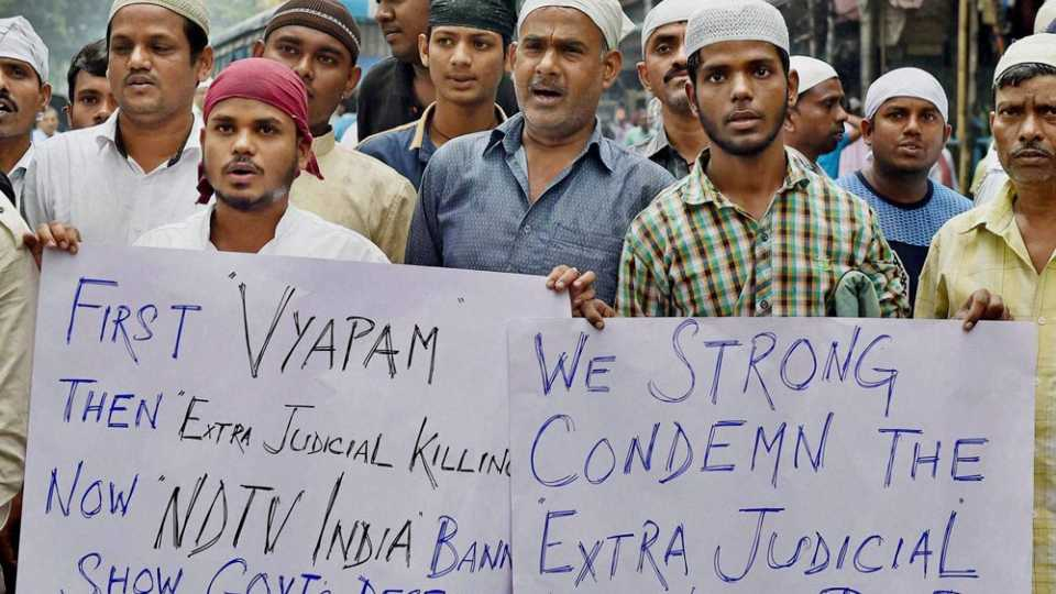 Protest Against Bhopal encounter
