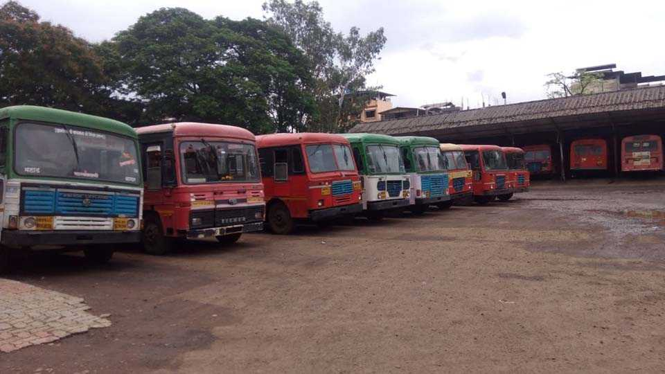 passengers faces huge problems due to agitation in Mahad ST