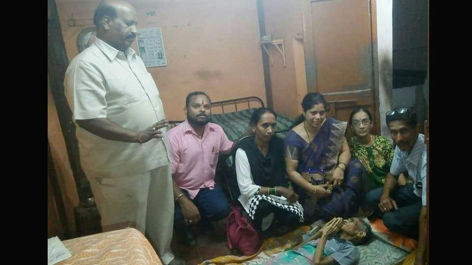 Helpless Aged Women got Help from Old Age Home