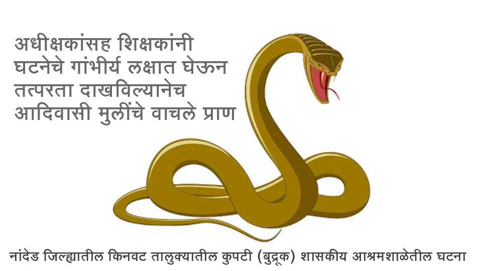 Nanded Breaking News In Marathi Two Girls Saved After Snake Bite