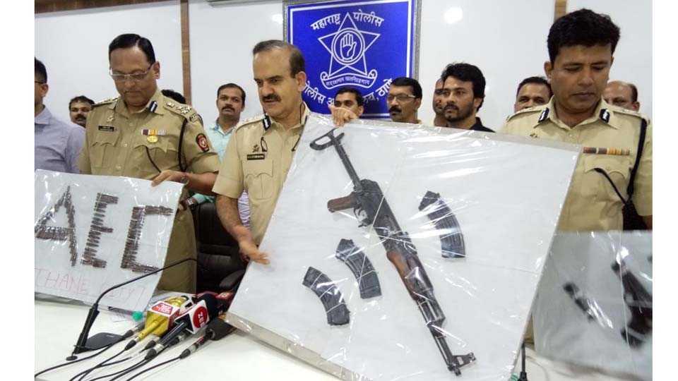 arms with AK 56 rifle seized