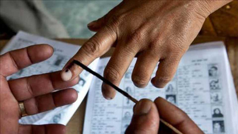 The highest voting turnout in Nipani of 65 percent till 4 pm