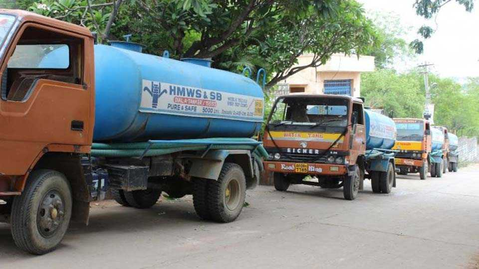 Water should be taken by private tanker despite double sided taps