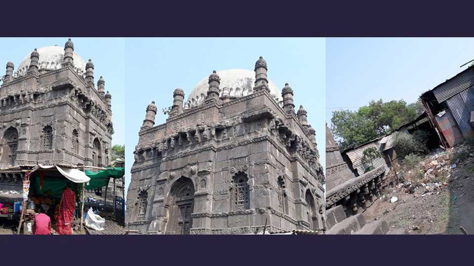 historical monument representing shivaji maharaj's grandfather ignored by government