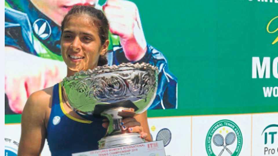 Tennis player Ankita Raina