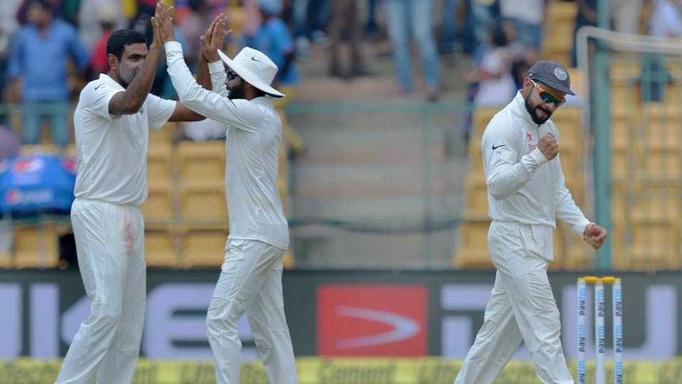 India's performance in second test cricket match against Australia