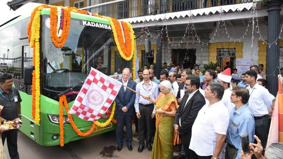 Buses running on biogas today in Goa