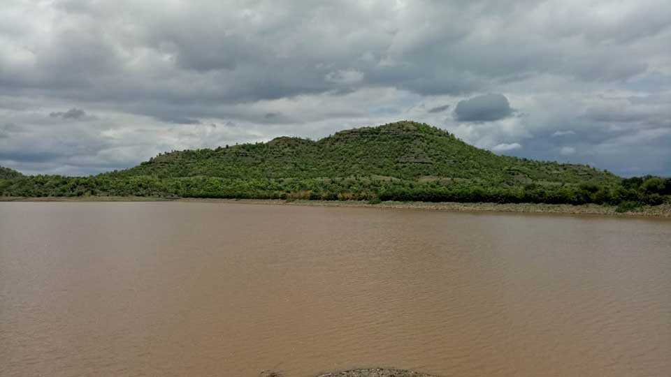 Water level in the Vetalwadi dam due to rain increased