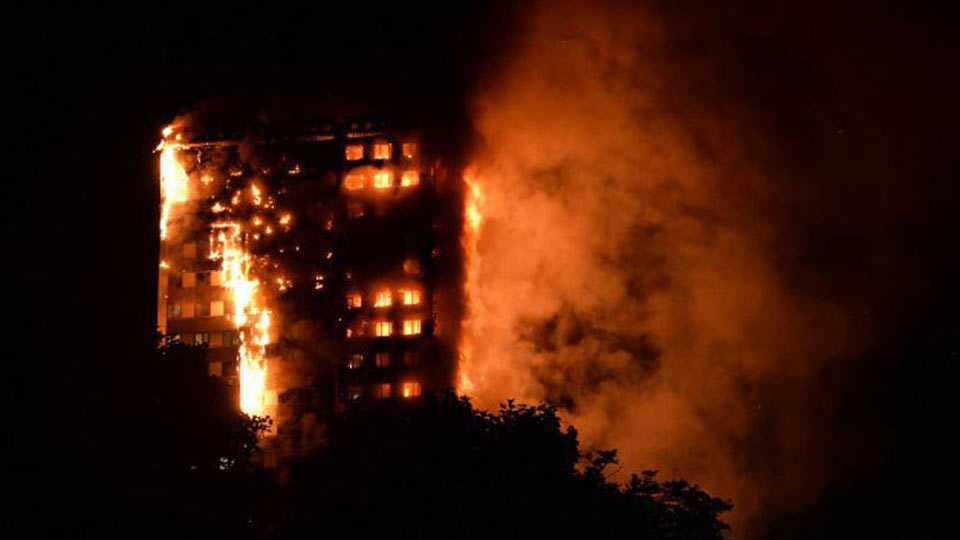 200 Firefighters Battle Massive Blaze At London High-Rise