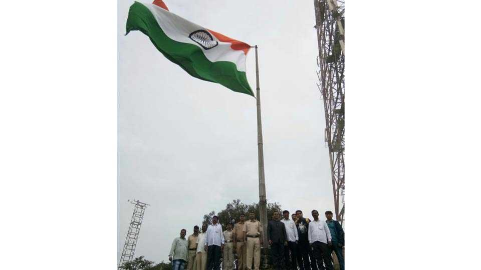 flag in Singhgad