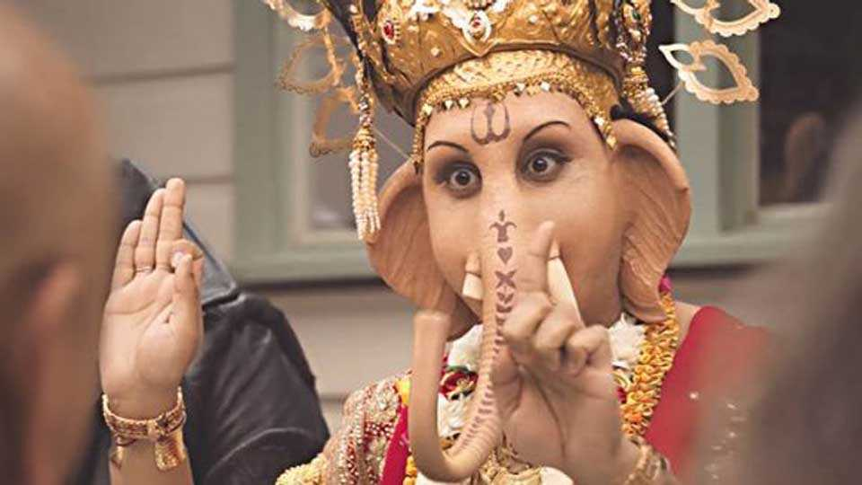 ad shows lord ganesha eating lamb india lodges protest with australia