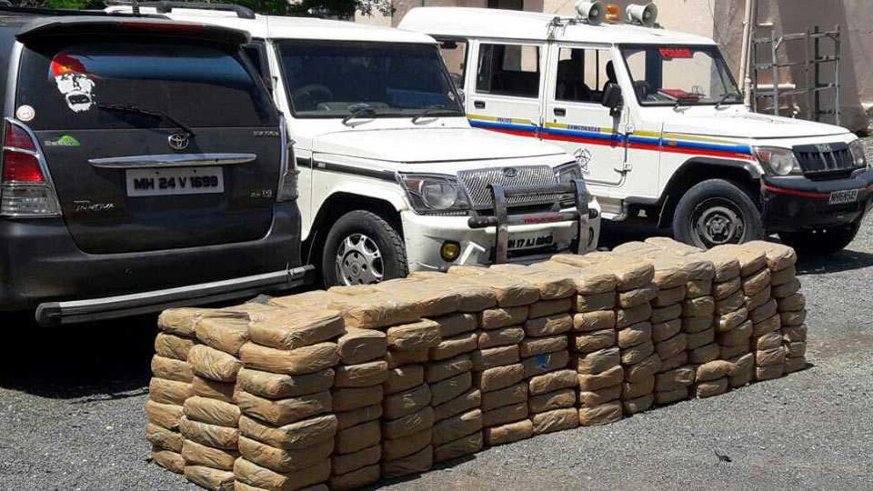 1 crore worth of ganja seized