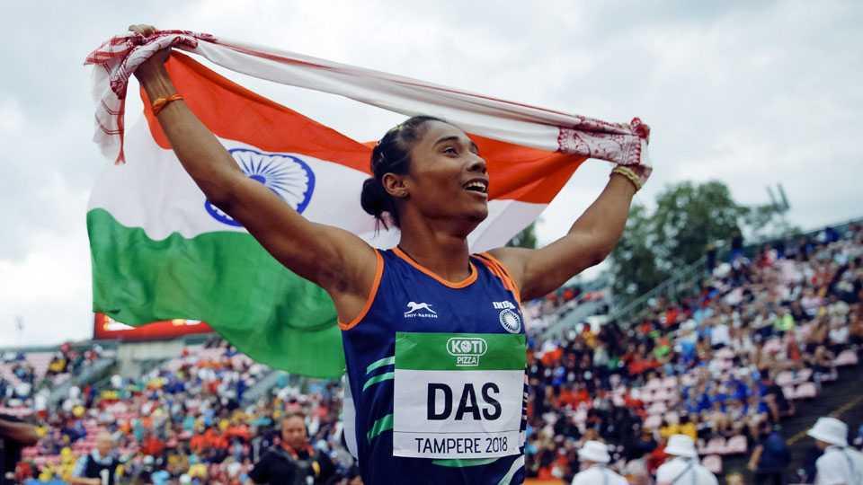 Hima Das wins gold in Under-20 World Athletics