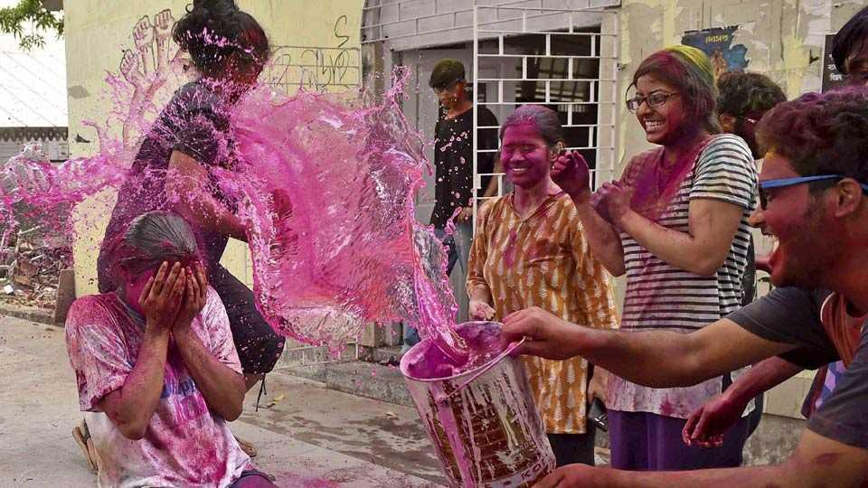 colorful holi celebration