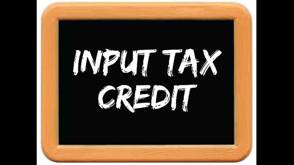 inputs tax credit