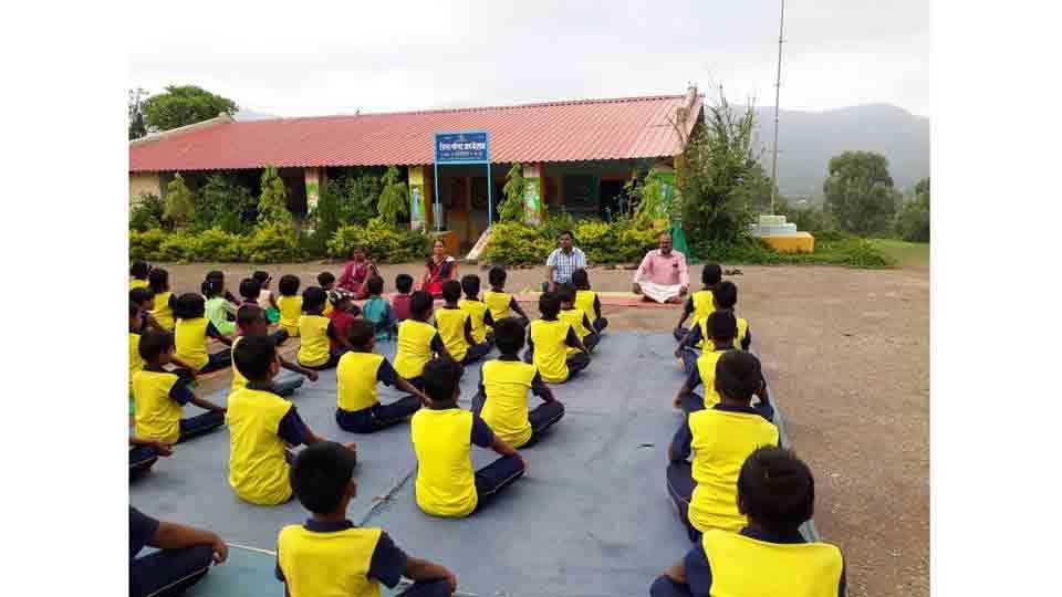 International yoga day at uchchil junnar pune
