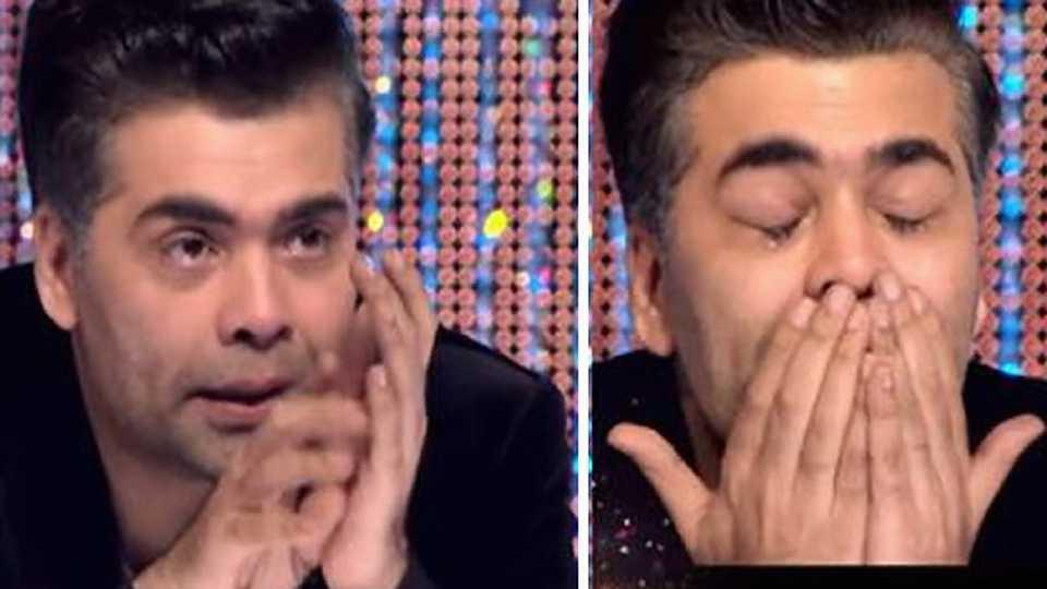 Karan Johar cried ...