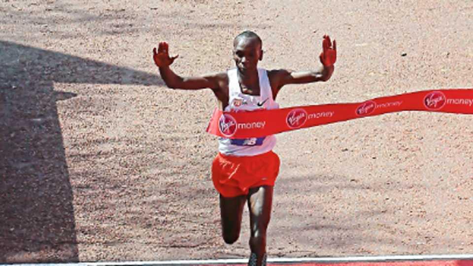 Kipchoge won London Marathon