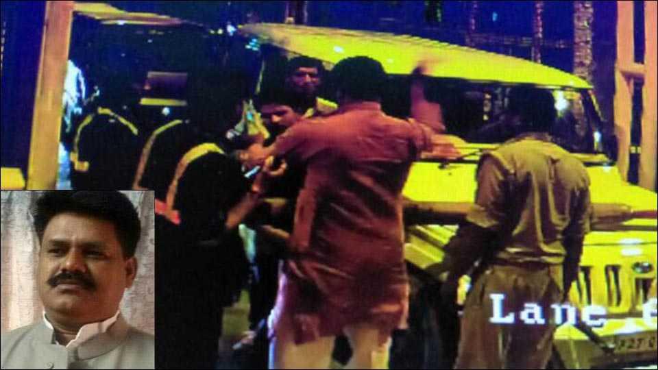 BJP MLA Mahendra Yadav assaults toll plaza staffer in UP, video goes viral
