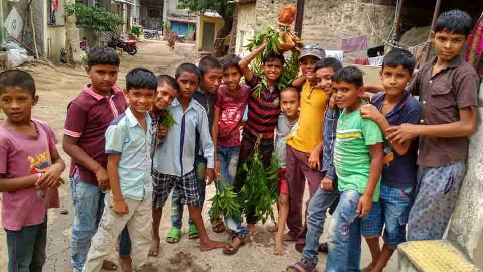 Children Pray for rain in malmatha area dhule