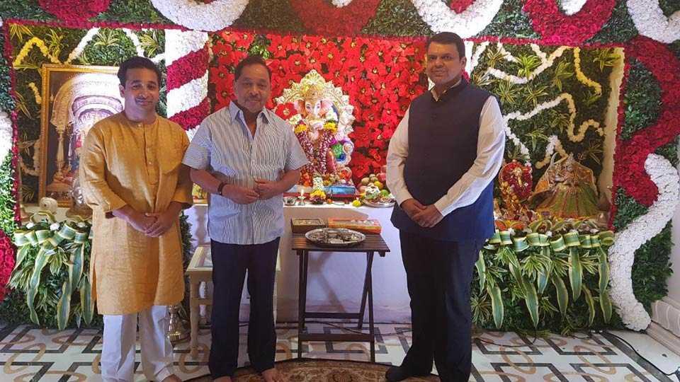 Devendra Fadnavis meet Narayan Rane