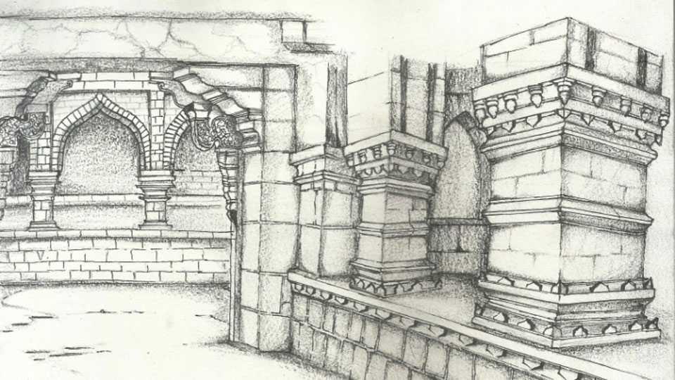 panhala-fort-sketch