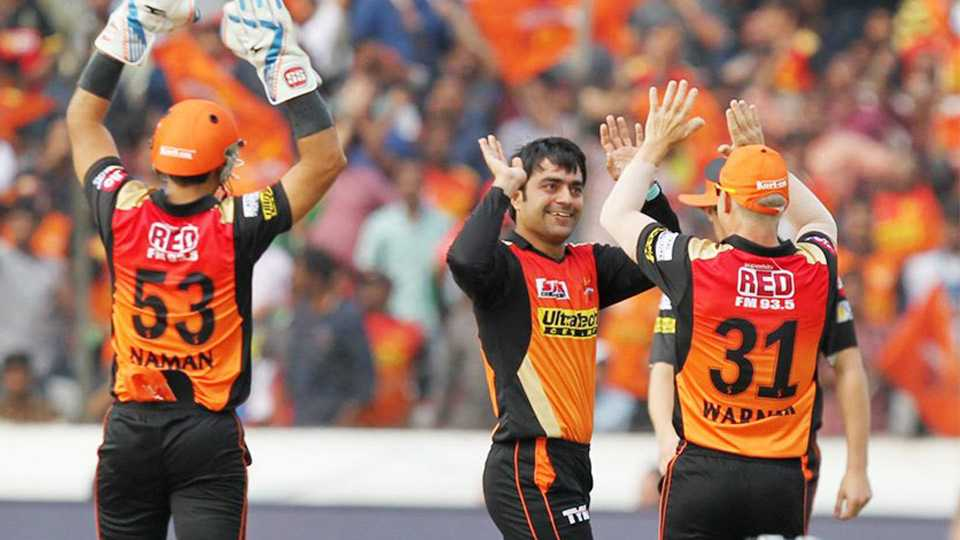 Rashid Khan finished with three wickets as Sunrisers Hyderabad thrashed Gujarat Lions by 9 wickets