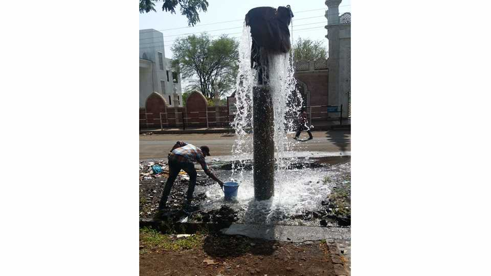 Water Waste in Sangli