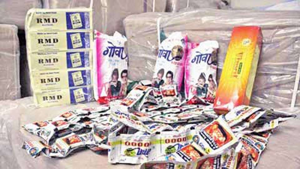 34 lakhs of illegal gutka seized
