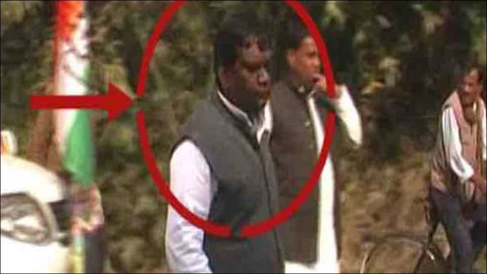 SP MLA Arun Verma who has been charged of murder now and rape earlier of the same. (courtesy: ABP News Image)