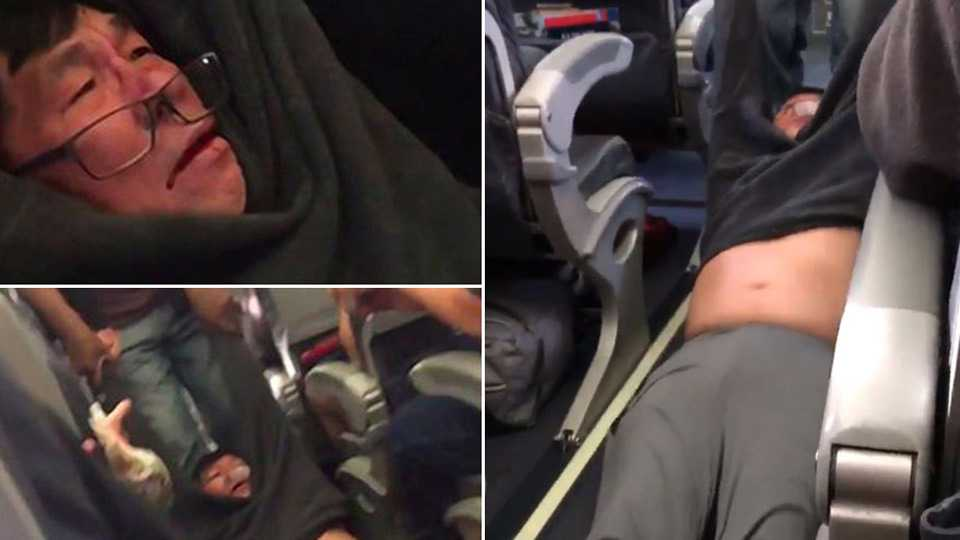 Man filmed being dragged off United flight causes outrage in China