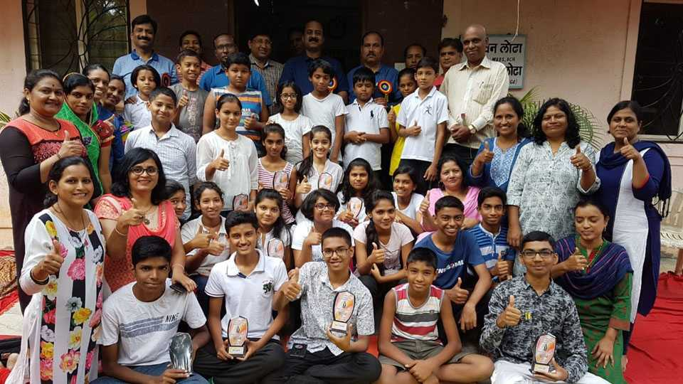 Yoga week was completed at Pimpale Gurav