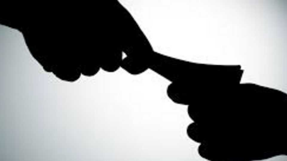 While taking a bribe the Assistant Education Officer was caught