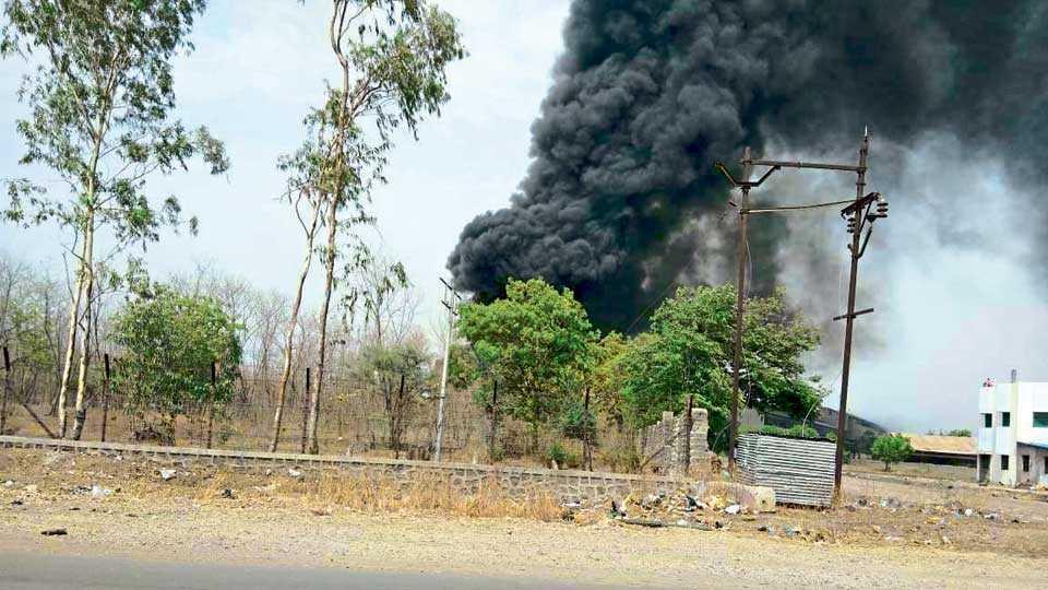 Fire in Videocon Factory