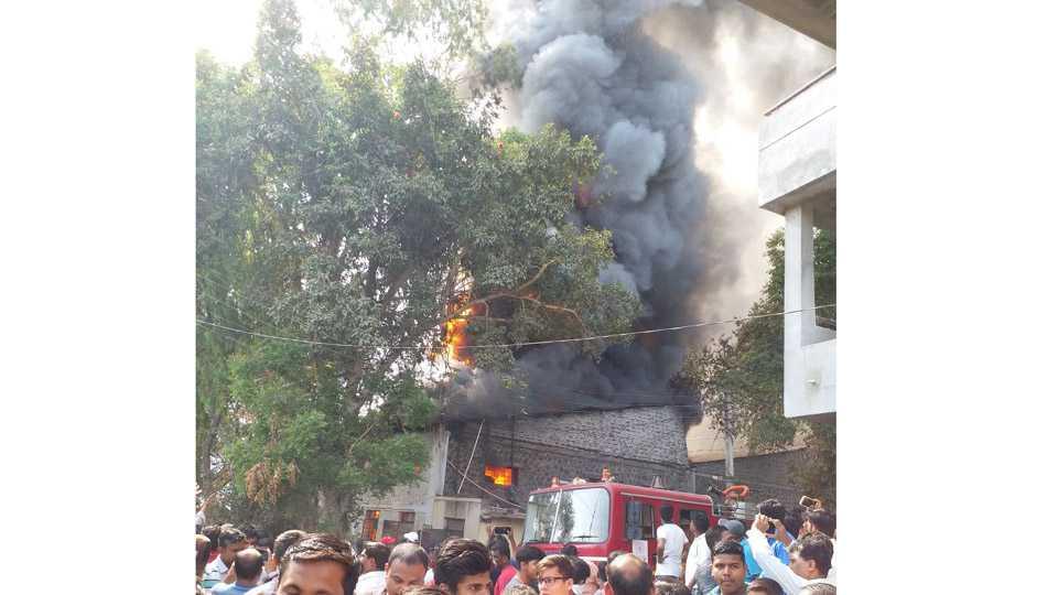The famous studio Pramod Kambles studio had a fierce fire