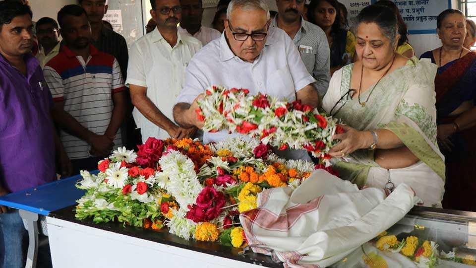 cremation of Bhishmaraj Baam