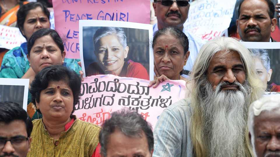 Protest over Gauri Lankesh Murder