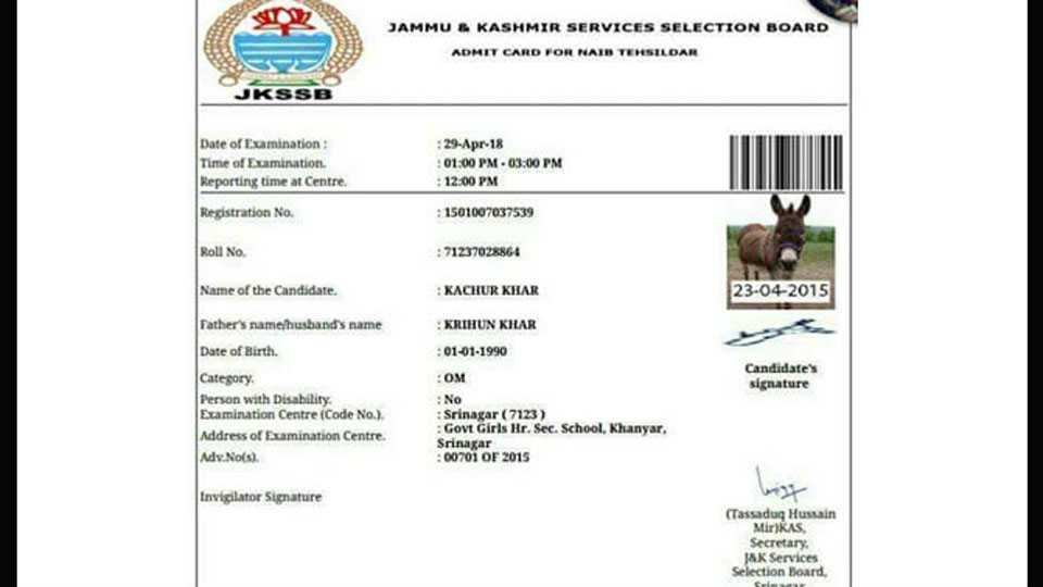 Donkey Gets Admit Card But Will It Appear For Exam