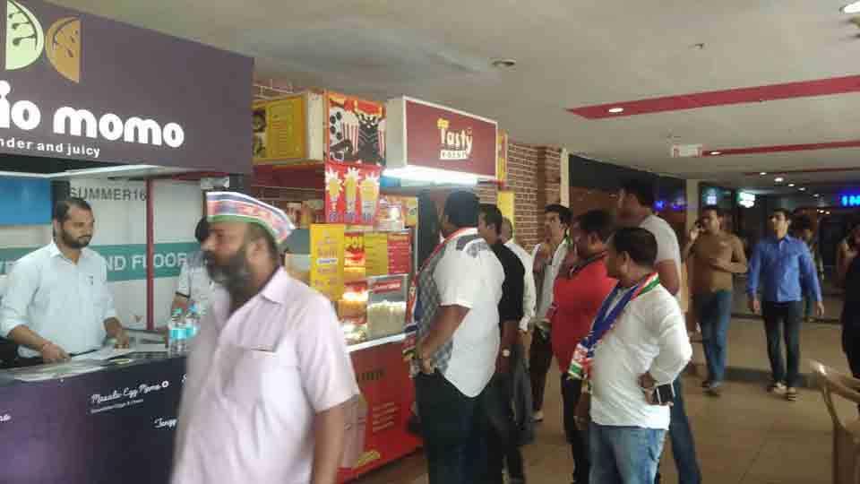 MNS agitation for multiplex food prices at kalyan mumbai