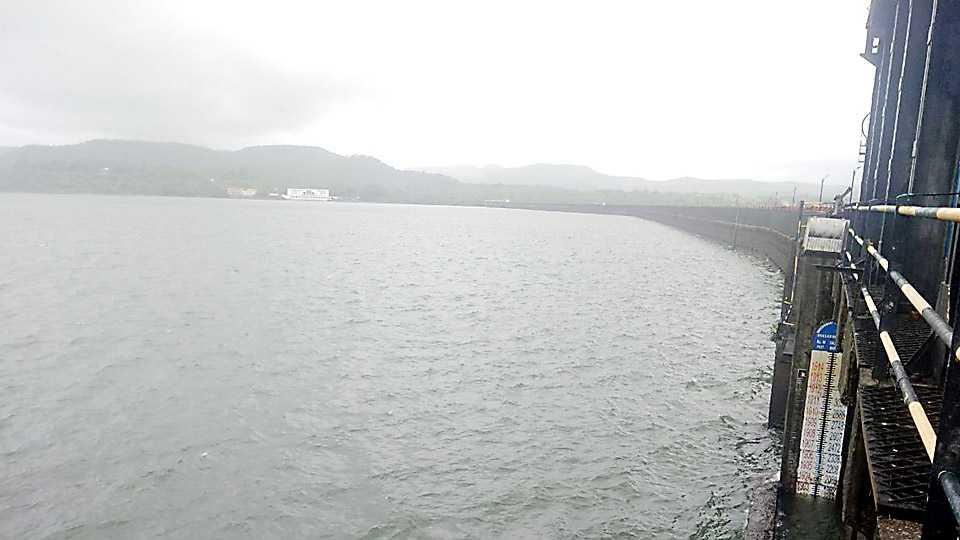 Khadakvasla dams water stock